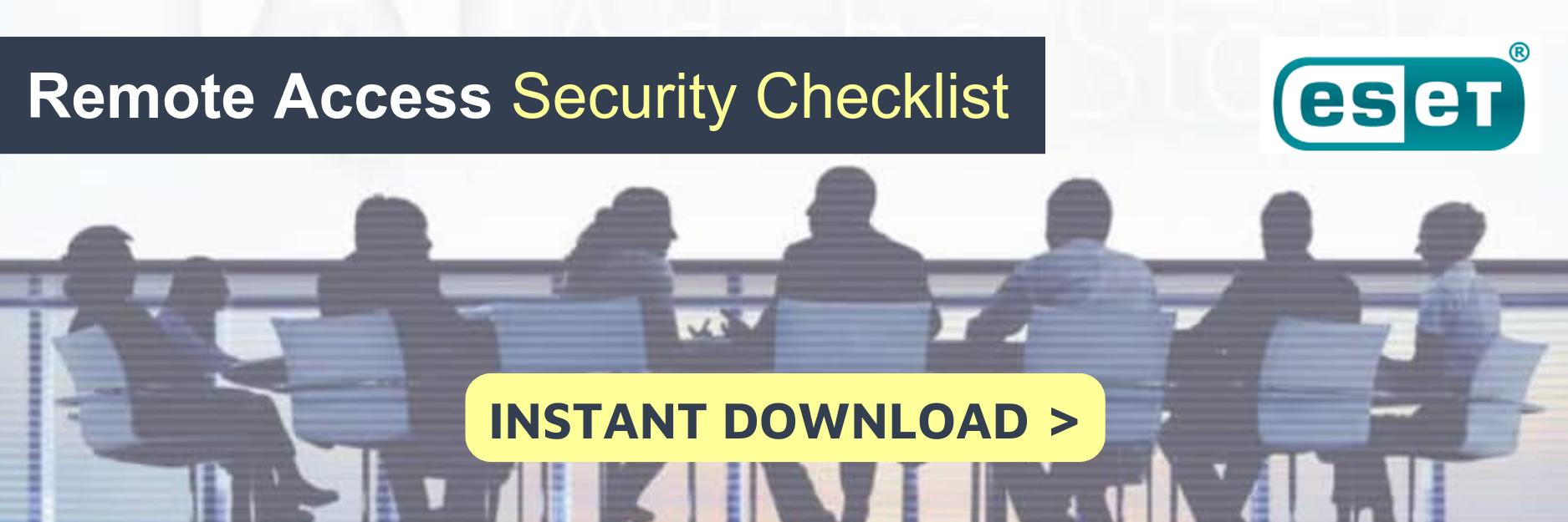 ESET checklist