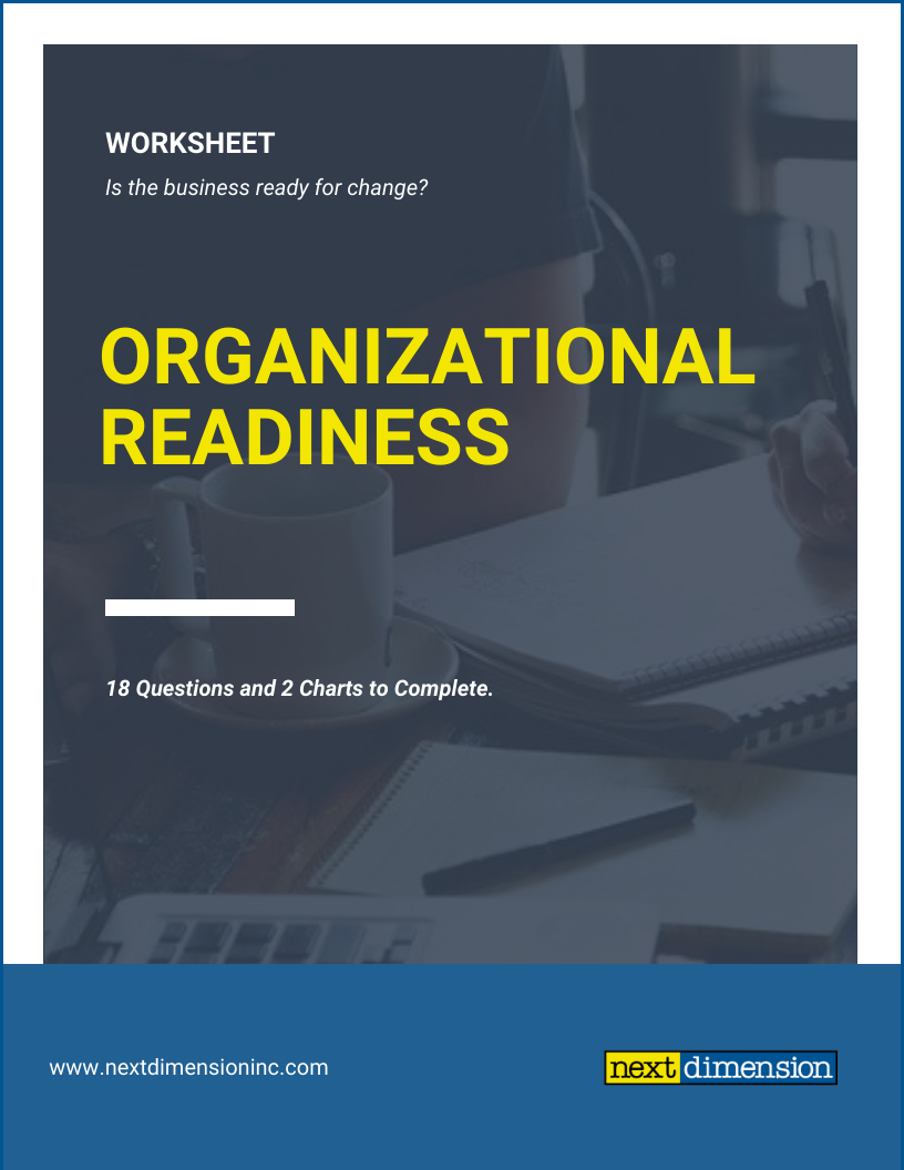 Org Readiness Worksheet Cover Page Image w border